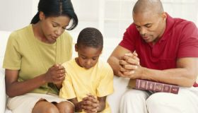 Black Family Praying