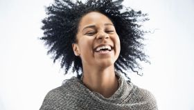 African American woman laughing