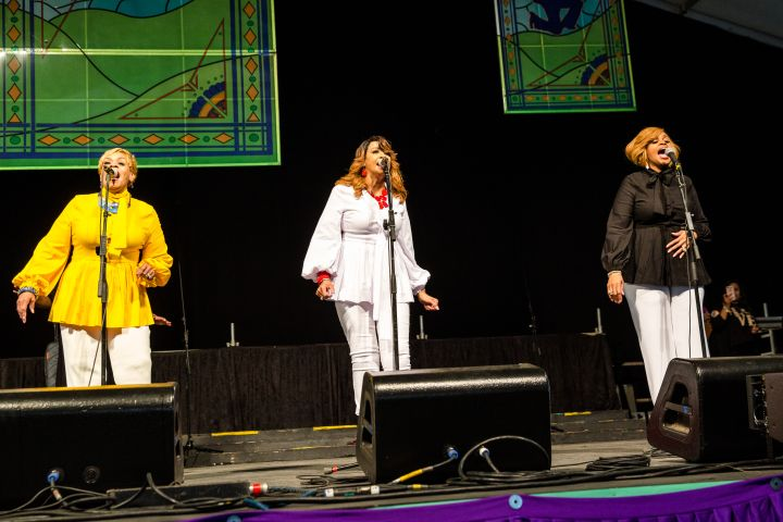 The Clark Sisters perform at the New Orleans Jazz & Heritage Festival