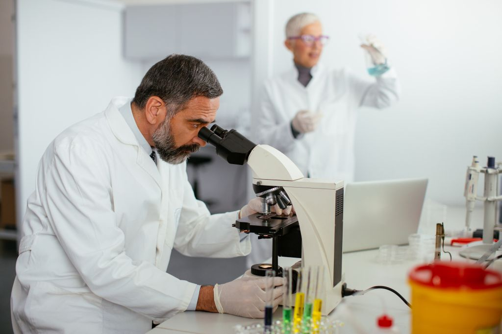 Scientist doing research