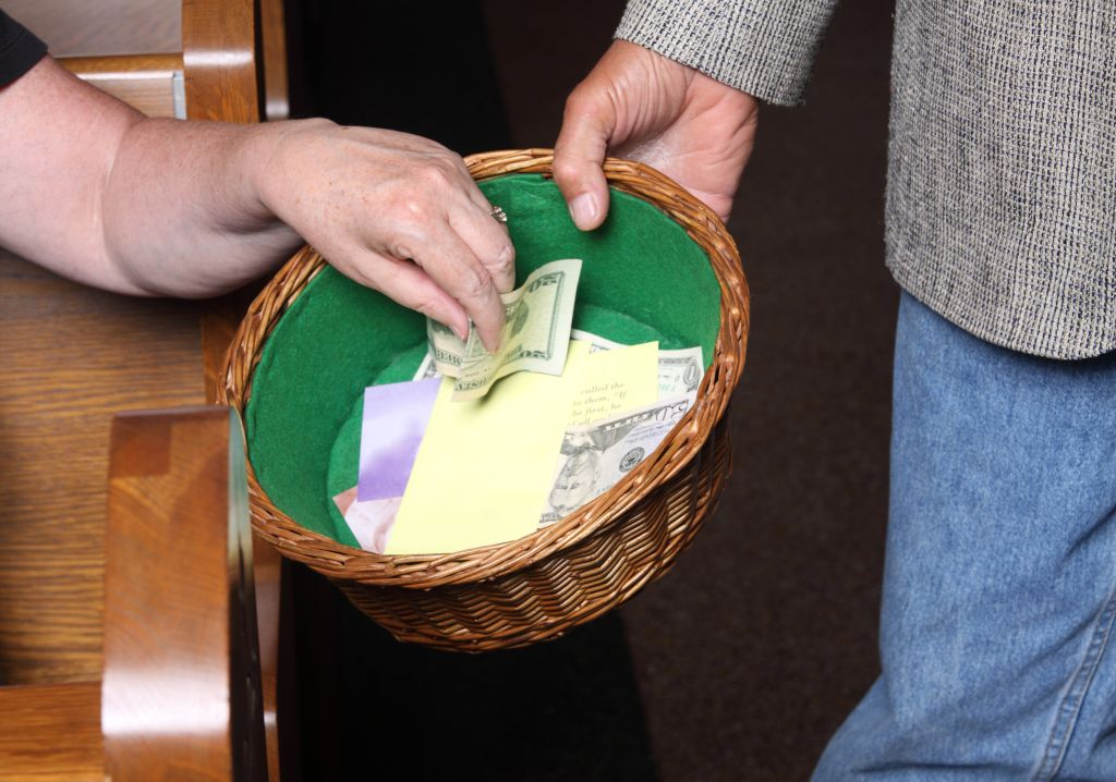 Woman Tithing