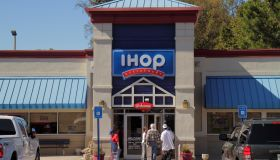 IHop, International House of Pancakes entrance.