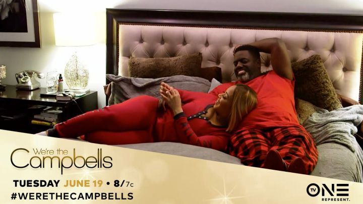 Erica Campbell & Warryn Campbell In Matching Pajamas