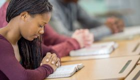 Praying Together at Their Desks