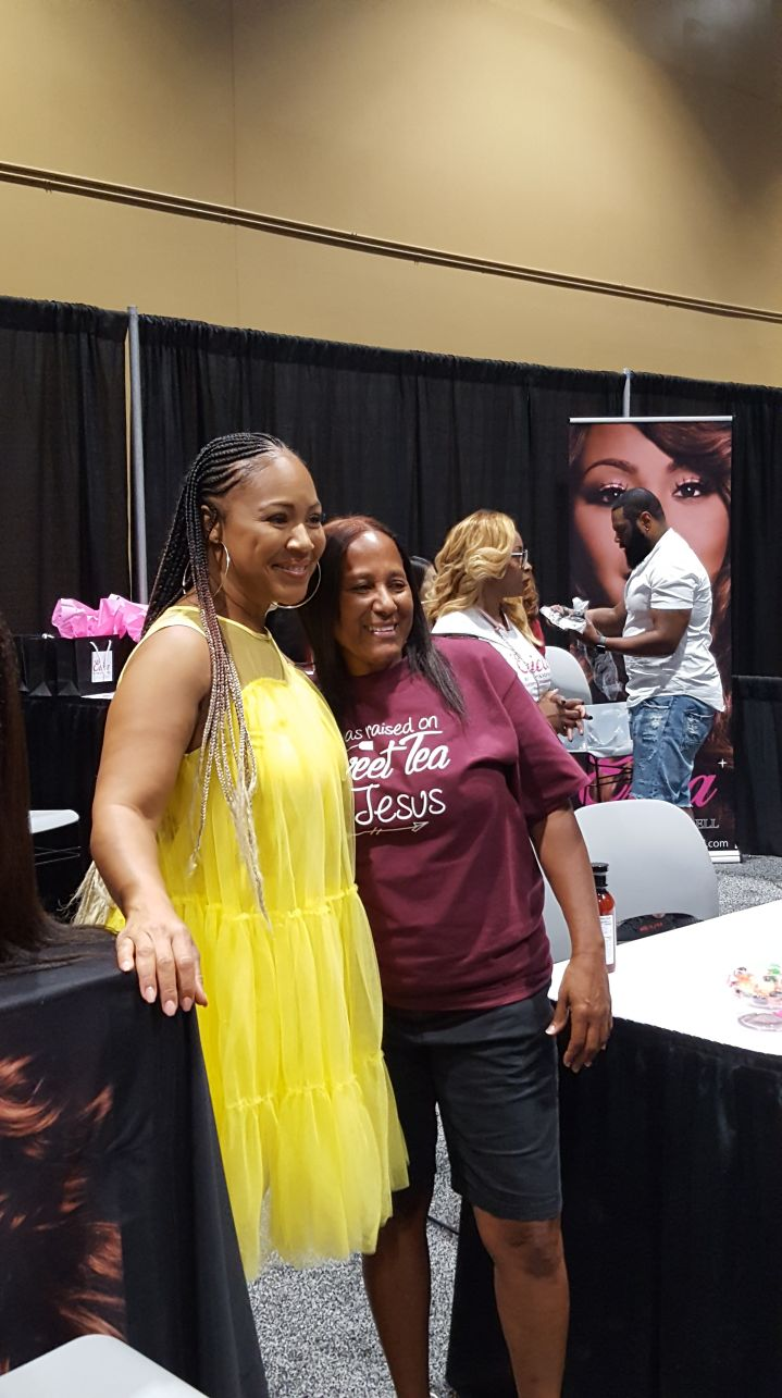 Erica Campbell at the Allstate Family Reunion Expo