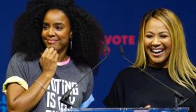"""Erica Campbell at """"When We All Vote"""" Rally"""