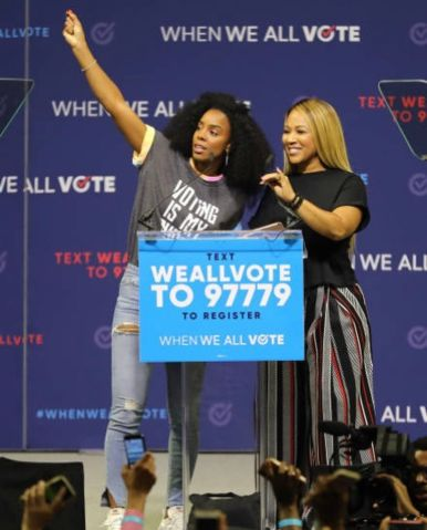 "Erica Campbell at ""When We All Vote"" Rally"