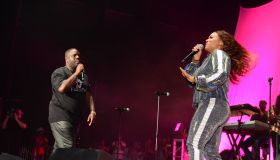 Erica and Warryn Campbell at Praise in the Park 2018