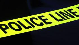 Caution tape displaying police crime scene line