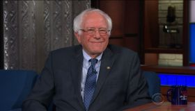 Bernie Sanders during an appearance on CBS' 'The Late Show with Stephen Colbert.'