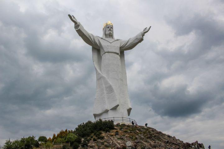 Christ the King statue in Swiebodzin, Poland