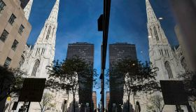 United States of America, New York, Manhattan, St. Patricks Cathedral in New York, built between 1853 and 1878, is located on Fifth Avenue in the Midtown neighborhood of New York City,