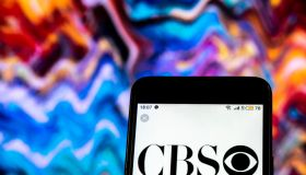 CBS Television broadcasting company logo seen displayed on a