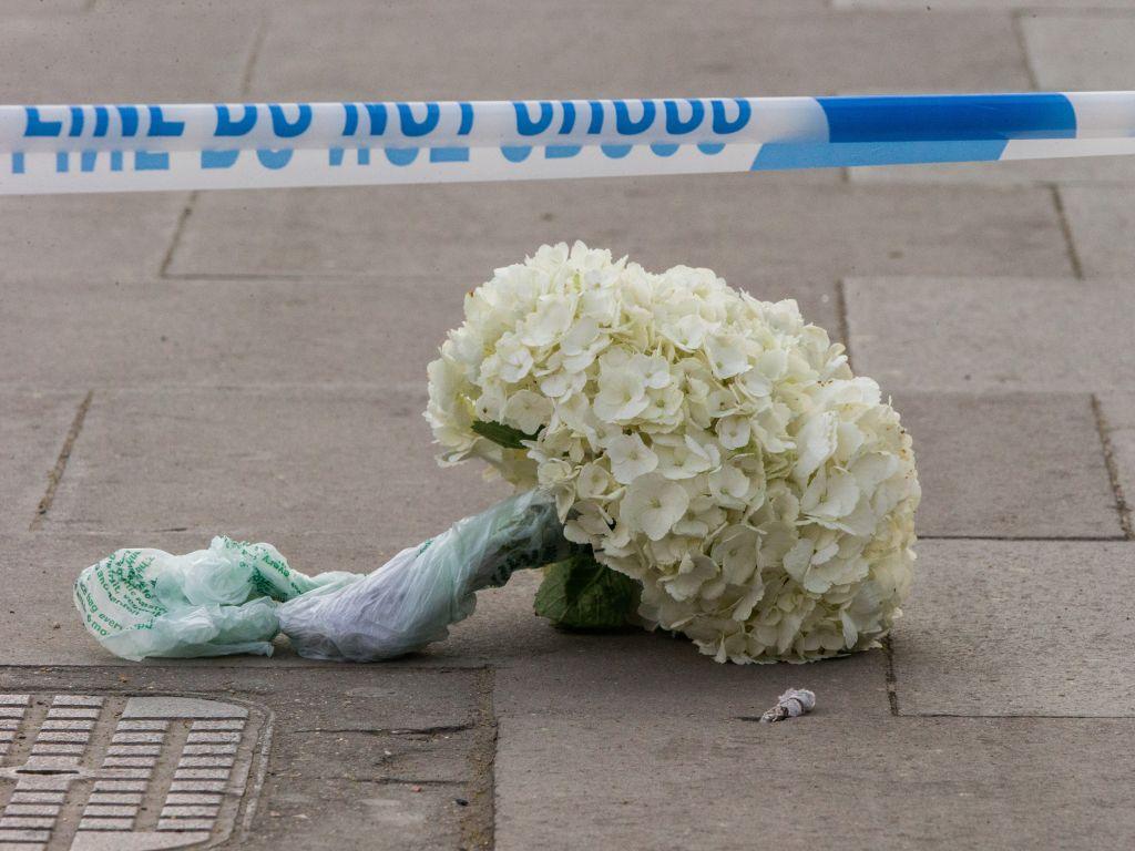 Crime scene of fatal stabbing in Finsbury Park, London UK