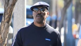 Eddie Murphy goes solo for a coffee in LA