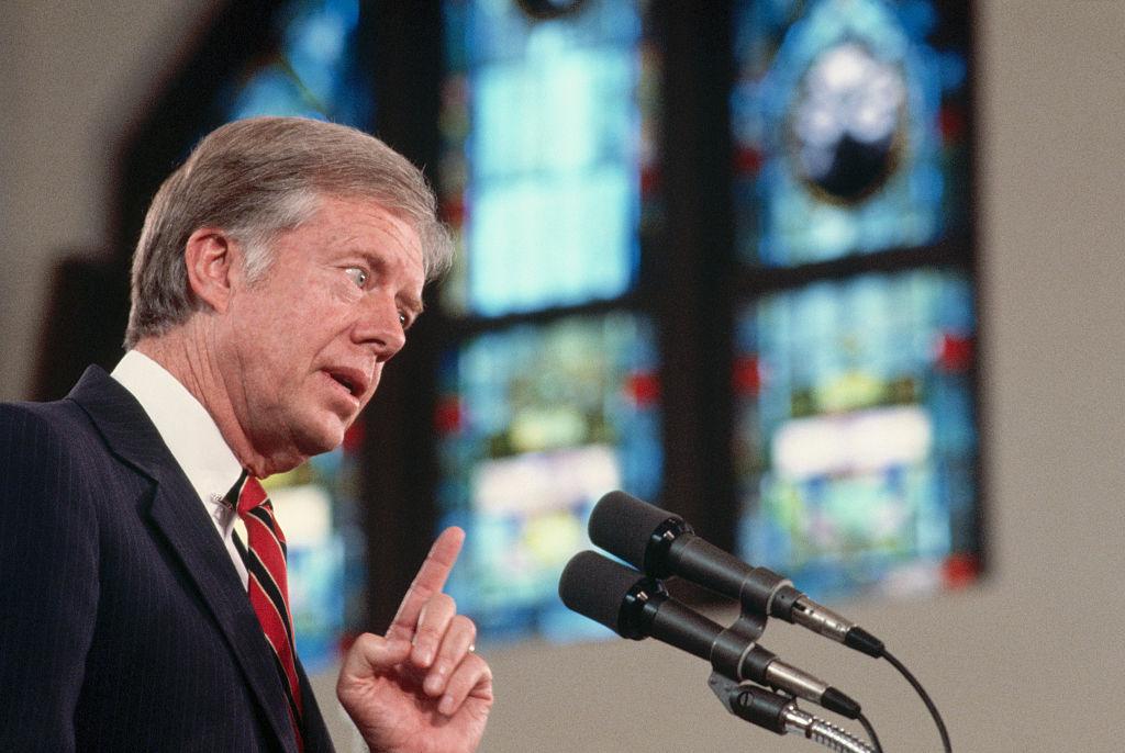 Jimmy Carter Speaking in a Church