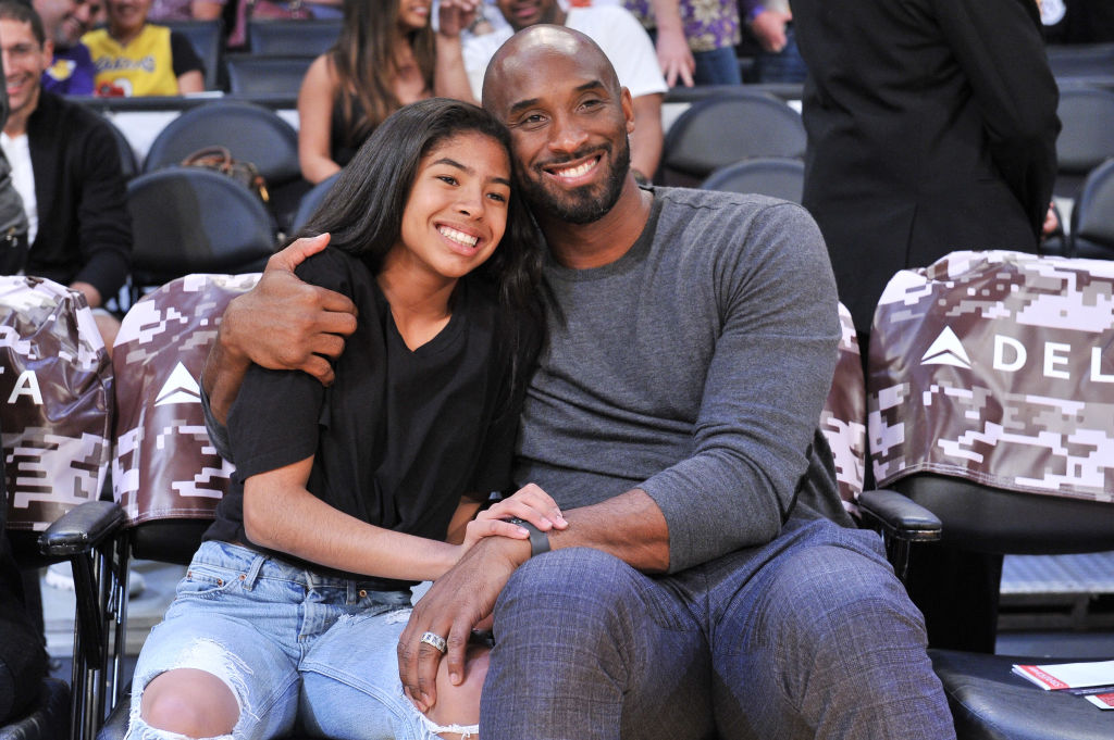 Celebrities At The Los Angeles Lakers Game