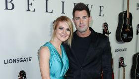 Adrienne Camp and Jeremy Camp arrive at the Los Angeles Premiere Of Lionsgate's 'I Still Believe' he...
