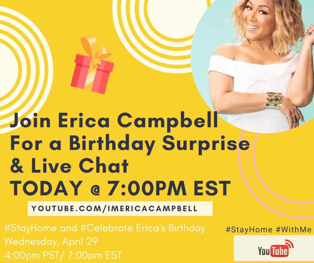 erica campbell's birthday surprise 2020