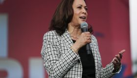 Democratic VP Candidate Kamala Harris Campaigns In South Florida